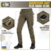 M-Tac штани Aggressor Lady Flex Dark Olive